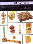 Bleasdales Auction Catalogue of Antique Sewing Tools 2011